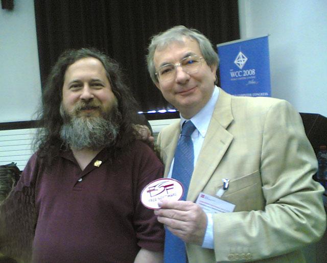 Richard Stallman e Claudio Gasparini