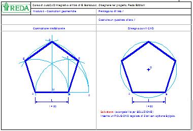Costruzioni geometriche: pentagono regolare
